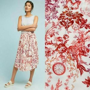 Anthropologie Staycation Printed Skirt by Maeve